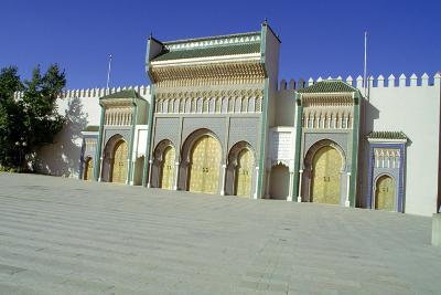 Gates of the Royal Palace, Fez, Morocco-Vivienne Sharp-Photographic Print