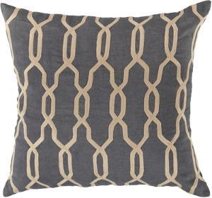 Gates Trellis Down Fill Pillow - Grey