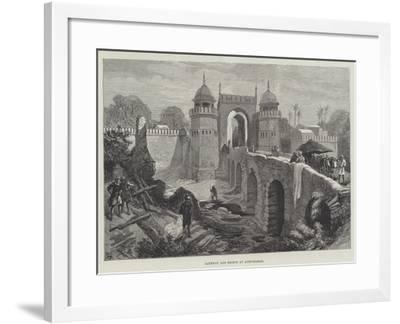 Gateway and Bridge at Aurungabad--Framed Giclee Print