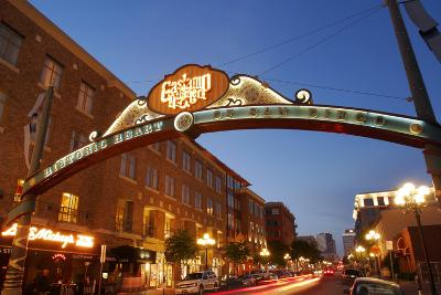 Gateway Arch, Gaslamp Quarter, San Diego, California, USA-Peter Bennett-Photographic Print