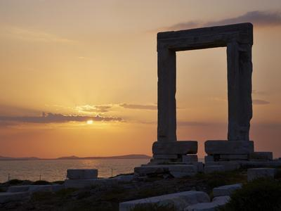 Gateway, Temple of Apollo, Archaeological Site, Naxos, Cyclades, Greek Islands, Greece, Europe-Tuul-Photographic Print