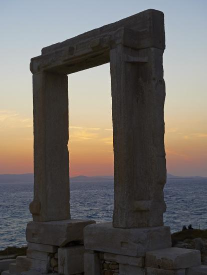 Gateway, Temple of Apollo, at the Archaeological Site, Naxos, Cyclades Islands, Greek Islands, Aege-Tuul-Photographic Print