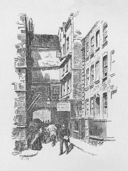 'Gateway to Great St. Helen's, and Almshouses', 1890-Unknown-Giclee Print