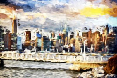 Gateway to New York - In the Style of Oil Painting-Philippe Hugonnard-Giclee Print