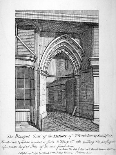 Gateway to the Church of St Bartholomew-The-Great, Smithfield, City of London, 1793--Giclee Print