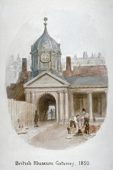 Gateway to the Old British Museum (Montague Hous), Bloomsbury, London, 1850-James Findlay-Giclee Print