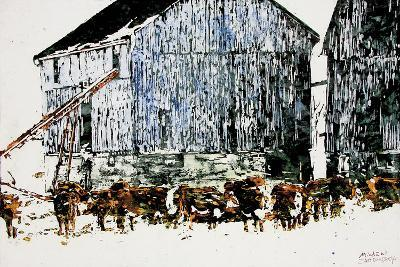 Gathered Outside on a Winter's Day-Micheal Zarowsky-Giclee Print
