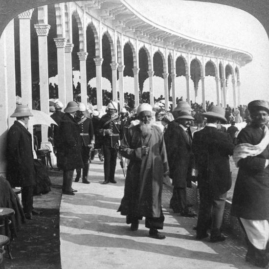 Gathering at the Great Durbar Amphitheatre, Delhi, India, 1903-Underwood & Underwood-Giclee Print