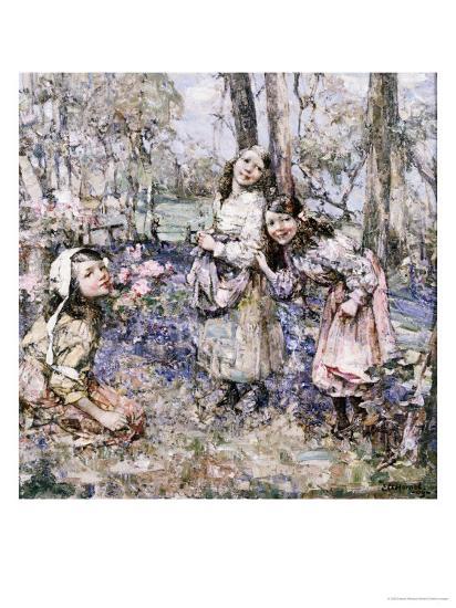 Gathering Bluebells, 1909-Edward Atkinson Hornel-Giclee Print