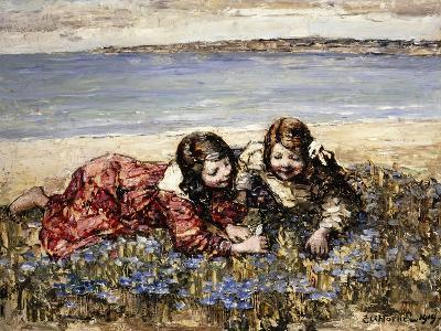 Gathering Flowers by the Seashore, 1919-Edward Atkinson Hornel-Giclee Print