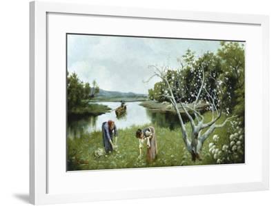 Gathering Flowers-Pompeo Massani-Framed Giclee Print
