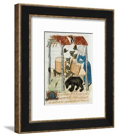 Gathering Honey from the Beehives--Framed Giclee Print