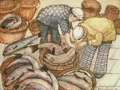 Gathering in the Fish-Gillian Lawson-Giclee Print
