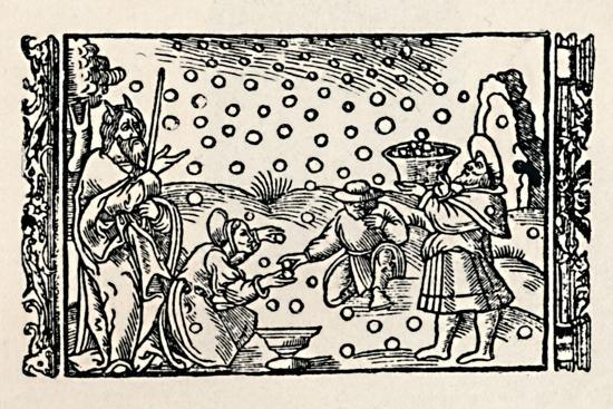 'Gathering Manna', 1539, (1903)-Unknown-Giclee Print