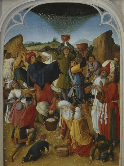 Gathering of the Manna, Oil on Wood, C. 1460-70- Master of the Manna-Giclee Print