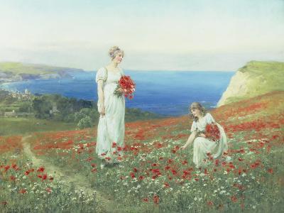 Gathering Poppies-Henry John Yeend King-Giclee Print