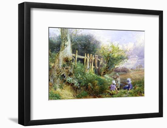 Gathering Primroses-Myles Birket Foster-Framed Premium Giclee Print