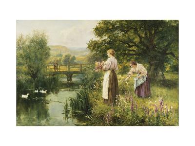 Gathering Spring Flowers-Henry John Yeend King-Giclee Print