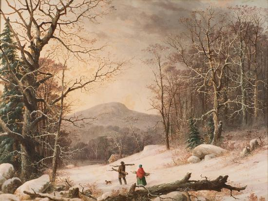 Gathering Wood, 1859-George Henry Durrie-Giclee Print