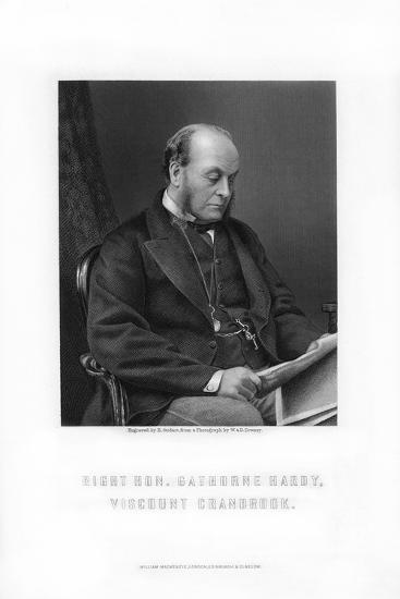 Gathorne Gathorne-Hardy, 1st Earl of Cranbrook, English Politician, 1881-E Stodart-Giclee Print