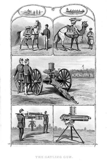 Gatling Rapid Fire Guns, 1862-William George Armstrong-Giclee Print