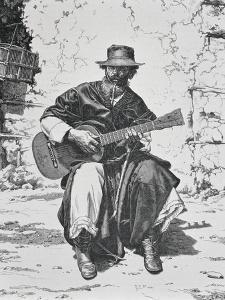 Gaucho Playing the Guitar, Argentina, Mid 19th Century