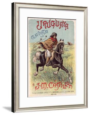 Gaucho Using Bolas--Framed Giclee Print