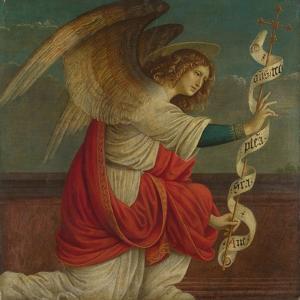 Archangel Gabriel (Panel from an Altarpiece: the Annunciatio), before 1511 by Gaudenzio Ferrari