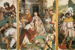 Triptych with the Adoration of the Magi by Gaudenzio Ferrari