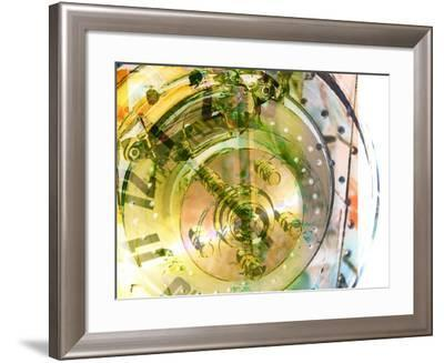 Gauges of a Clock Superimposed on the Face of Analog Clock--Framed Photographic Print