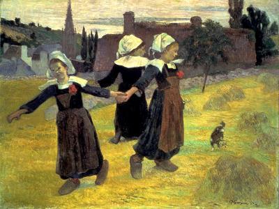 Gauguin: Breton Girls, 1888-Paul Gauguin-Giclee Print