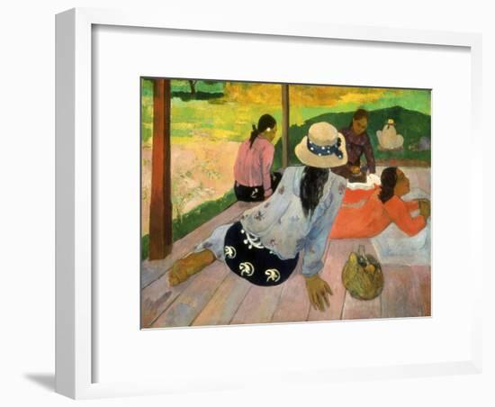Gauguin: Siesta, 1891-Paul Gauguin-Framed Giclee Print