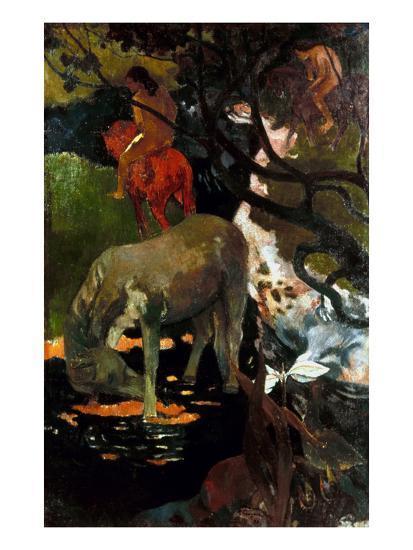 Gauguin: White Horse, 1898-Paul Gauguin-Giclee Print