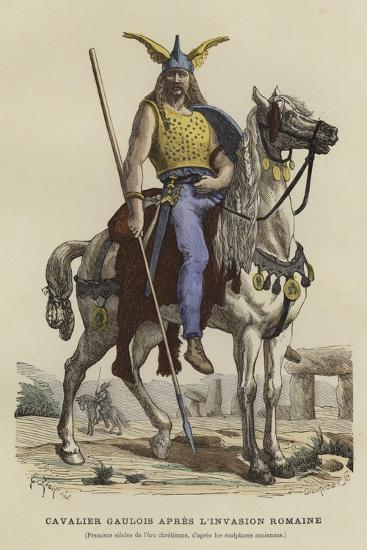 Gaulish Cavalryman after the Roman Invasion--Giclee Print