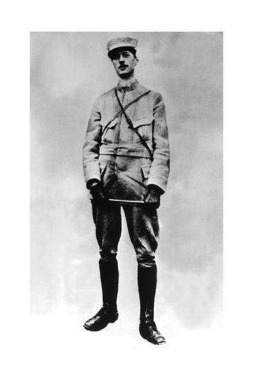 Gaulle, Charles De 1890-1970). French Statesman and Military. De Gaulle in 1917--Giclee Print