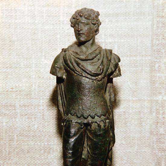 Gaullish prisoner, Roman bronze statuette, c1st century. Artist: Unknown-Unknown-Giclee Print