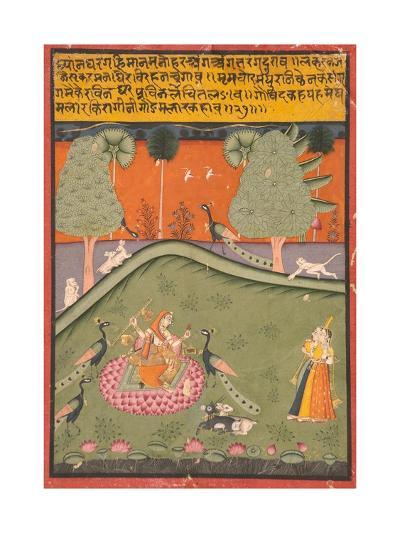 Gaurmalar Ragini of Megh, C.1720--Giclee Print