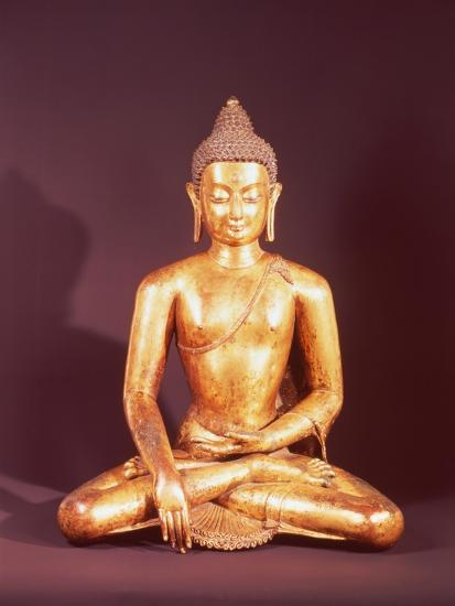 Gautama the Buddha-Nepalese School-Giclee Print