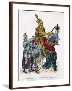 Charles VII, King of France, on Horseback in Full Armour, 15th Century (1882-188) by Gautier
