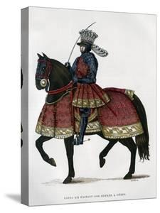 Louis XII, King of France, on Horseback, 1498-1515 (1882-188) by Gautier