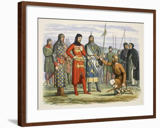 Gaveston's Head Shown to the Earl of Lancaster-James William Edmund Doyle-Framed Giclee Print