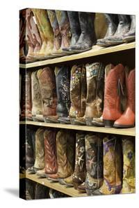 Cowboy Boots Lining the Shelves, Austin, Texas, United States of America, North America by Gavin