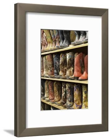 Cowboy Boots Lining the Shelves, Austin, Texas, United States of America, North America