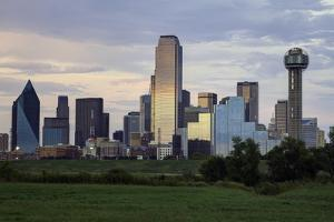 Dallas City Skyline and the Reunion Tower, Texas, United States of America, North America by Gavin