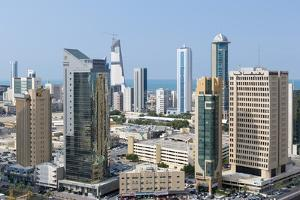 Elevated View of the Modern City Skyline and Central Business District by Gavin
