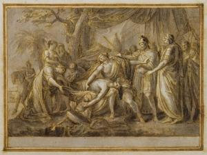 Achilles Lamenting the Death of Patroclus, 1760-63 (Pen and Ink and Wash on Paper) by Gavin Hamilton