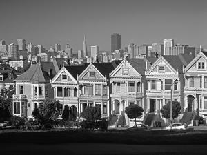 Alamo Square and City Skyline, San Francisco, California Usa by Gavin Hellier