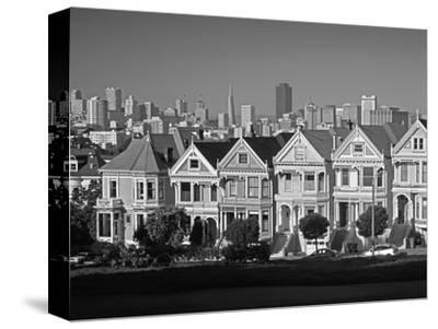 Alamo Square and City Skyline, San Francisco, California Usa