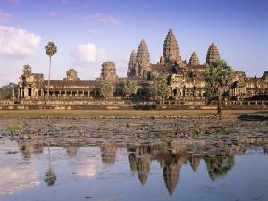 Angkor Wat Reflected in the Lake, Unesco World Heritage Site, Angkor, Siem Reap Province, Cambodia by Gavin Hellier