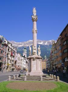 Annasaule Monument in the Centre of Innsbruck, Tirol, Austria by Gavin Hellier